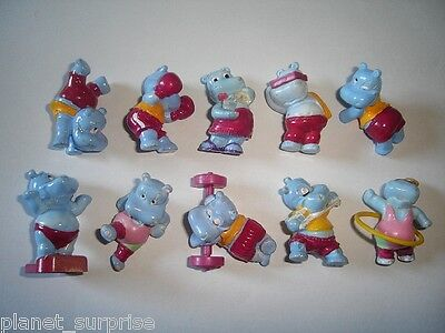 KINDER SURPRISE SET - HAPPY HIPPOS AT THE GYM 1990 REPLICATIONS - FIGURES
