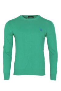 Perry Fred Vert Tricot Pull Hommes Coton L 8UwgqdU