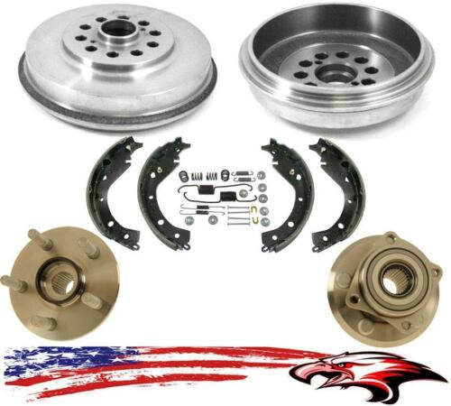 Rear All Wheel Drive Hub Bearings Drums Shoes /& Springs Vibe /& for Toyota Matrix