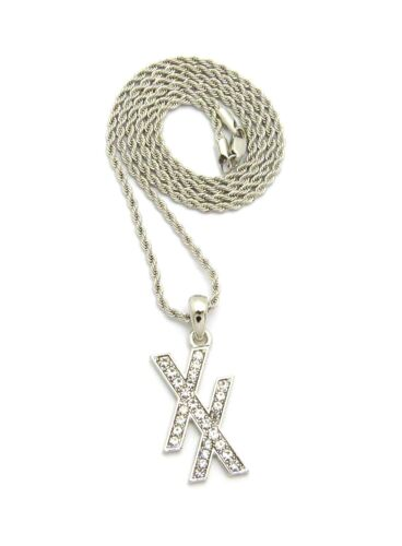 """XSP554 New Iced Out MGK XX Pendant /& 24/"""" Box//Cuban//Rope Chain Hip Hop Necklace"""