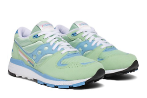 WOMENS-SAUCONY-AZURA-SNEAKERS-BLUE-MINT-WHITE-S60437-26-SIZE-9-M-Z605
