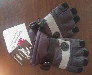 Kid-3M-Thinsulate-Snow-Gloves-Waterproof-Warm-Ski-Gloves-NEW-Black-4-5