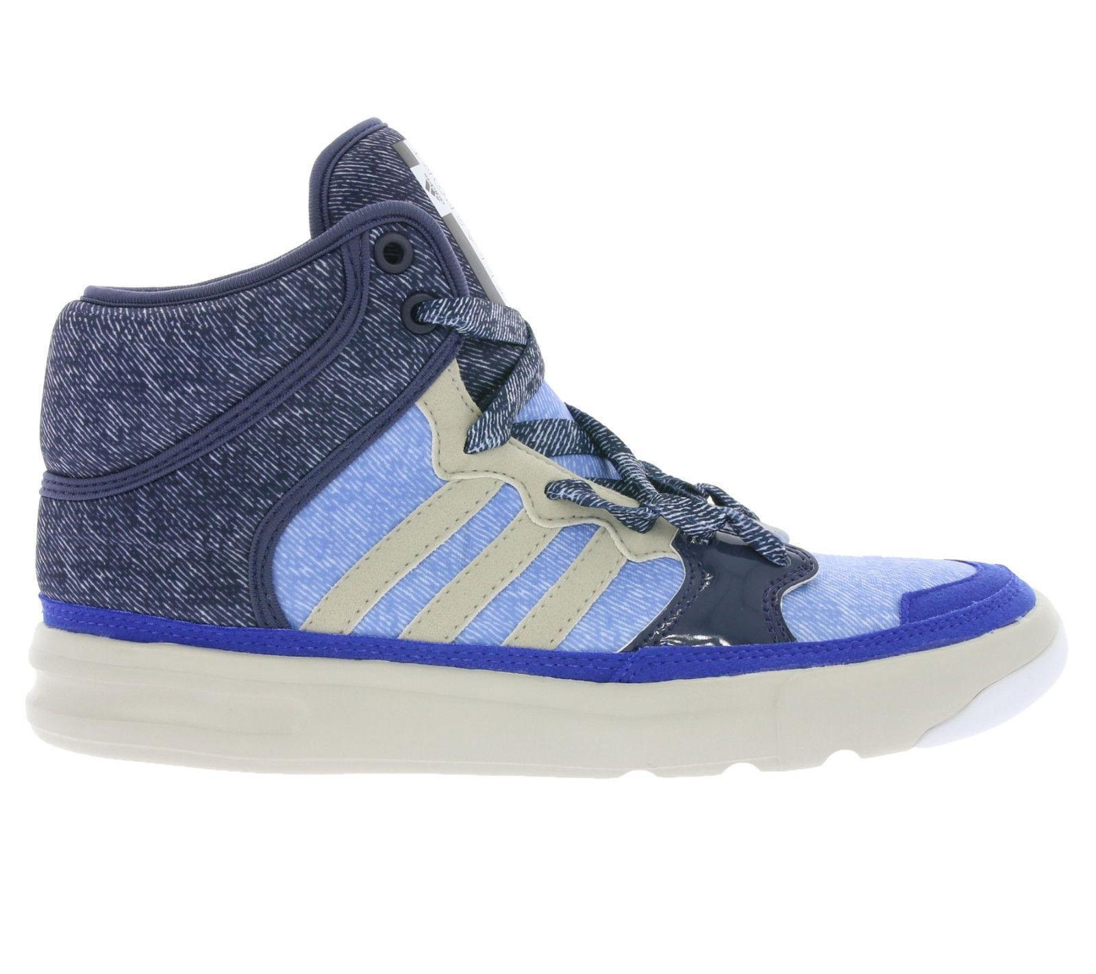 Womens ADIDAS STELLA SPORT IRANA Blue Textile Hi Top Trainers B25114