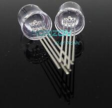 10PCS RGB LED 10MM common cathode 4-PINS Super Bright Bulb Lamp