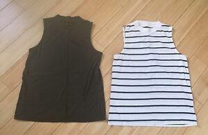 0 Designer T Shirts Taglia Shirts Of Green Women's Lot Xs Top 2 Madewell S Stripes rnwqIrU7