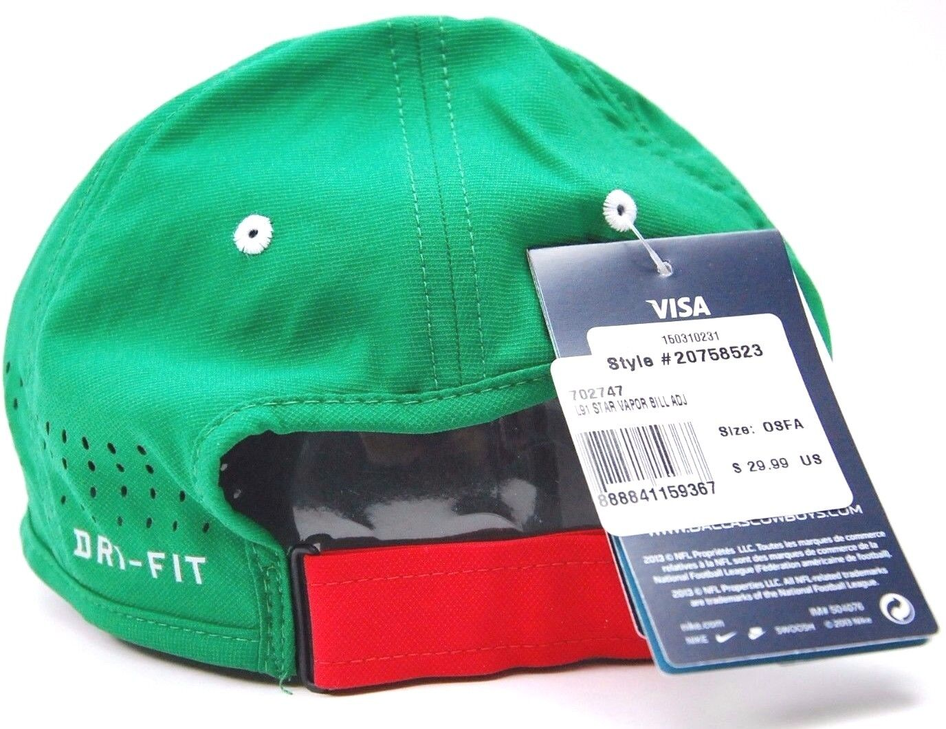 Licensed Dallas Cowboys Nike L91 Star Vapor Dri-fit Mexico Colors Hat B105  for sale online  810cd73bc
