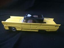 Vintage Tin  Yellow Taxi Cab Friction Toy Car  Japan