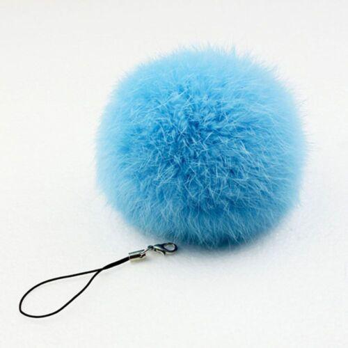 Echte Kaninchenfell Pom Keychain Ball Llaveros Schlüsselanhänger Navidad Regalo