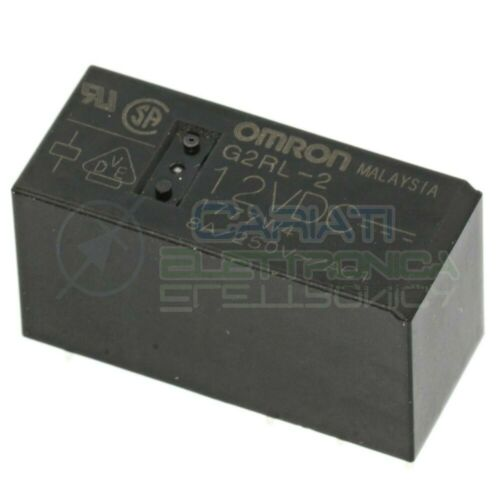 Relè doppio 2 scambio Omron G2RL-2 12VDC 12V DC 8A 250V DPDT
