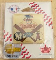 2005 NY N.Y. New York Yankees vs Anaheim Angels Division Series pin A.L.D.S ALDS
