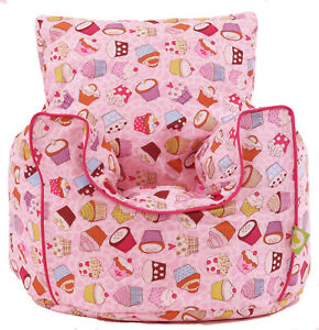 Image Is Loading Cotton Cupcake Bean Bag Arm Chair With Beans