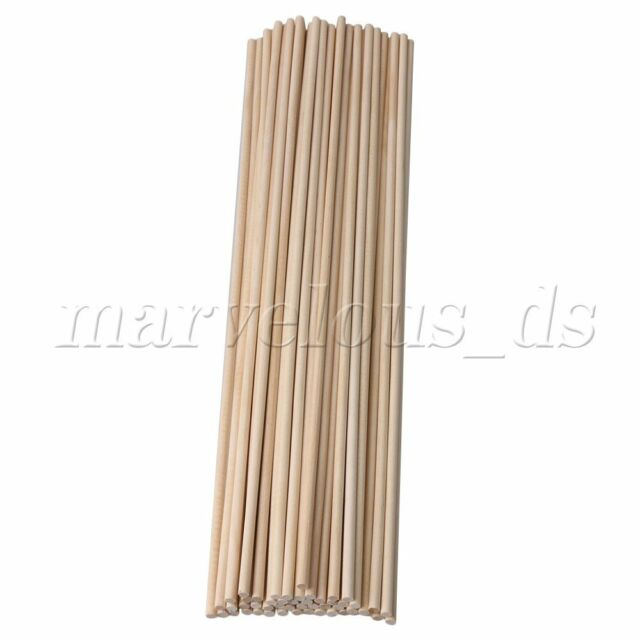 e28654477a 5mm Dia Birch Wooden Round Craft Sticks 400mm for DIY Woodworking Pack of 50  for sale online   eBay