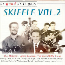 BRITISH SKIFFLE [2 CDS-60 TRACKS] Lonnie Donegan,Vipers,Saddlemen,Don Lang+] NEW