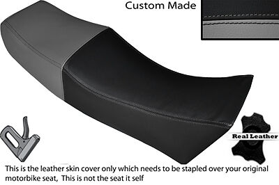 GREY AND BLACK CUS FITS MOTO GUZZI LE MANS 1000 V DUAL LEATHER SEAT COVER