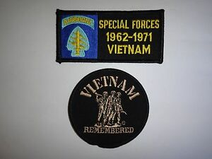 2 Us Militaire Correctifs - États-unis Forces Spéciales 1962-1971 Vietnam + MNA1w1NR-09114704-765983970