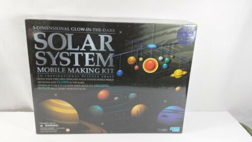 4 M Solar System Mobile Making Kit Glow in the Dark Childrens Science Age 7 +