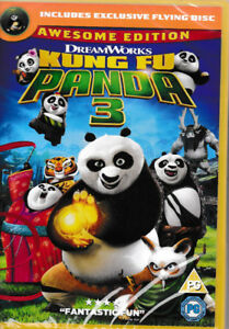 Kung Fu Panda 3 - DVD - Awesome edition - Includes Exclusive Flying Disc - NEW 5039036077774