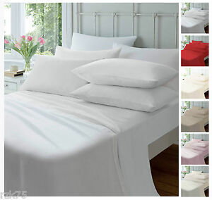 Image Is Loading Luxury Flannelette Fitted Sheets Soft Brushed Cotton Bed