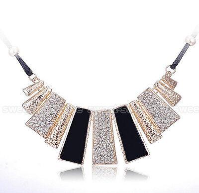 New Fashion Pendant Chain Crystal Jewelry Choker Chunky Statement Bib Necklace