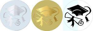 Graduation-stickers-envelope-seals-invitation-gold-silver-labels-Designer-x-50