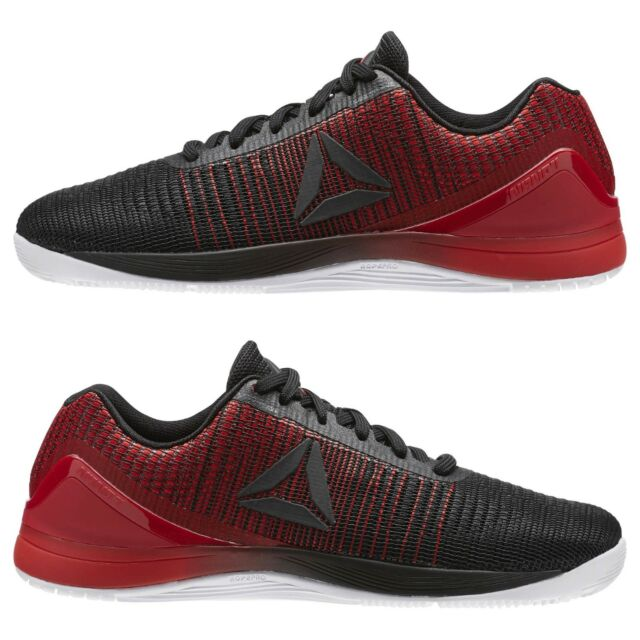2ac3a02caaa6 Men s Reebok CrossFit Nano 7 Weave Black White Red Training Weightlifting  BS8345