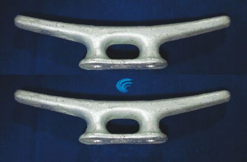 """2X HQ Galvanized Metal 10/"""" CLEAT Boat Marine Dock Raft Anchor Line Rope Holder"""