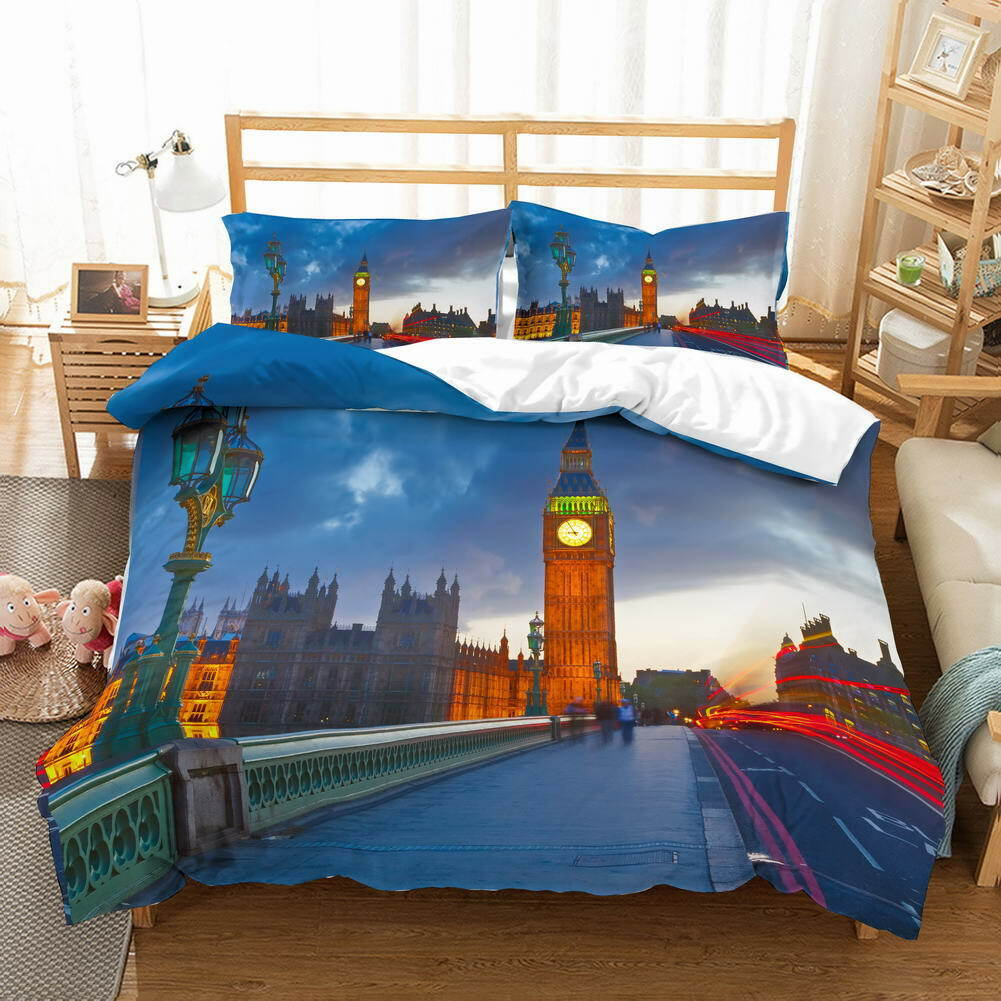 A Wet Fresh Street 3D Quilt Duvet Doona Cover Set Single Double Queen King Print