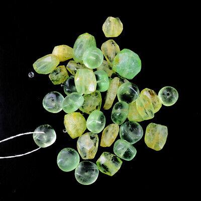 Phrenite  Beads Strand of 13 Inches
