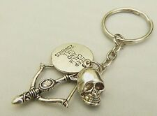 Keep Calm And Kill Zombies Keyring - Gift for Walking Dead fan, Crossbow / Daryl
