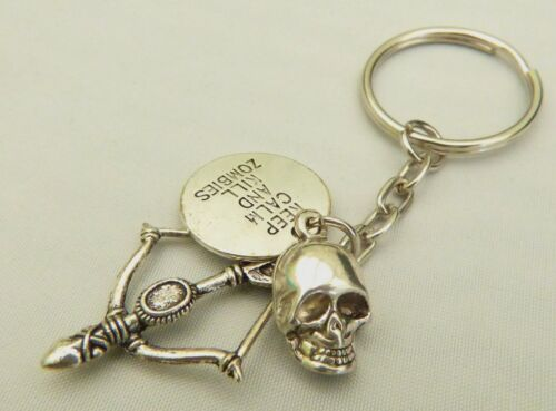 Keep Calm & Kill Zombies Key-ring / Bag Charm - Walking Dead / Daryl fan Gift,