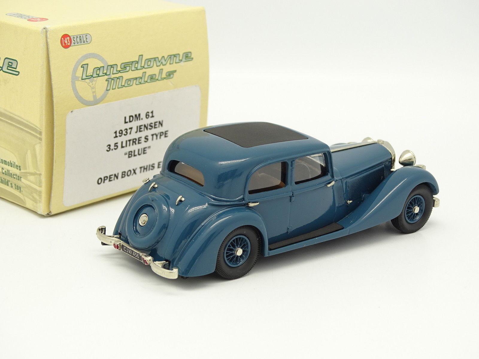 Lansdowne Modelle 1 43 - Jensen 3.5L s-Typ 1937 Blau Blau Blau 4e333d