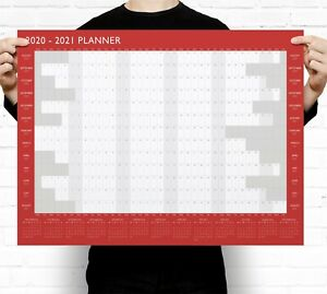 2020-2021 A2 Academic Wall Planner Calendar ~ Mid Year