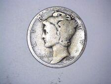 Old Original 1920 San Francisco Mint United States Silver Mercury Dime Coin