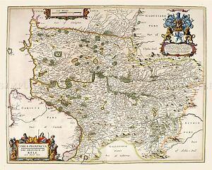 MAP-ANTIQUE-BLAEU-SCOTLAND-1654-KYLE-AYR-OLD-LARGE-REPLICA-POSTER-PRINT-PAM0610