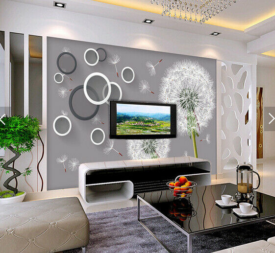 3D Dandelion 554 Wallpaper Murals Wall Print Wallpaper Mural AJ WALL AU Kyra