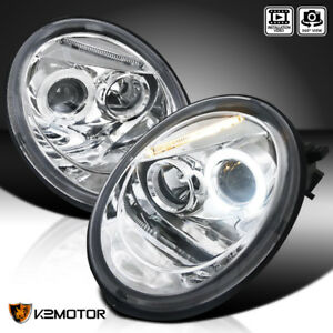 Image Is Loading For 1998 2005 Vw Volkswagen Beetle Halo Projector