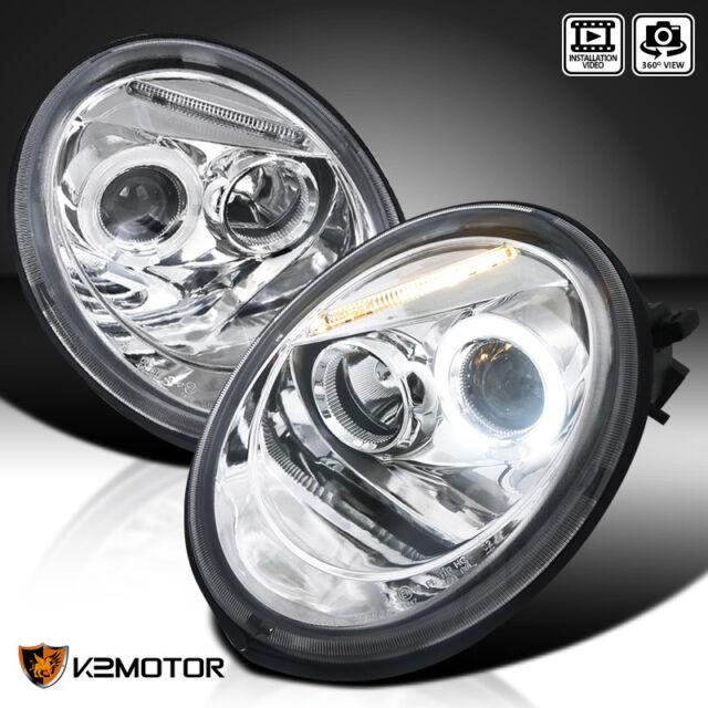For 1998 2005 Vw Volkswagen Beetle Halo Projector Headlights Pair Left Right