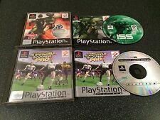 ISS Pro Evolution & Superstar Soccer Pro PS1 PSOne Playstation Game - Complete