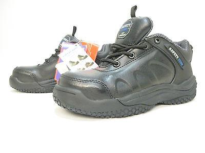 Zapatos de Cuero parada De Seguridad Zapatillas Puntera De Acero No Trabajo UK 4 C4 LH17