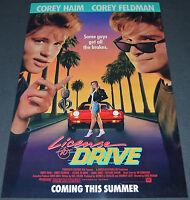License To Drive 1988 Original Advance Movie Poster Corey Haim & Corey Feldman