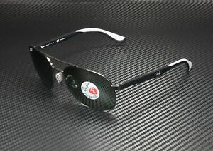 RAY-BAN-RB3593-002-9A-Black-Polarized-Green-58-mm-Men-039-s-Sunglasses