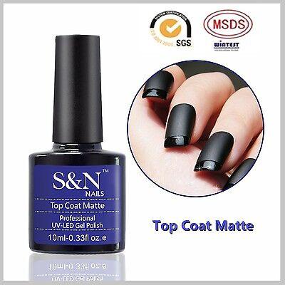 MATT Top S&N Soak off uv gel nail polish 10ml.