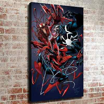 "Spiderman vs Venom Carnage HD Canvas prints Painting Home Decor Wall art 16/""x26/"""
