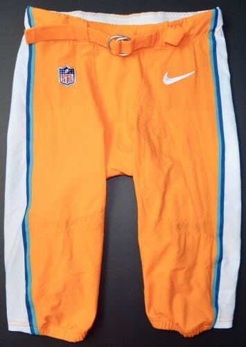 MIAMI DOLPHINS NIKE GAME USED COLOR RUSH PANTS - Size 34