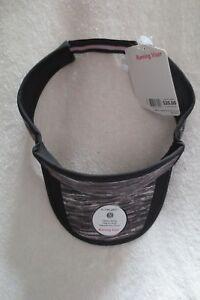 Femmes couche 8 Course Visière Noir Taille Unique Réglable dans le dos réfléchissant NEUF-afficher le titre d`origine zhjiZtoo-07162718-316876560