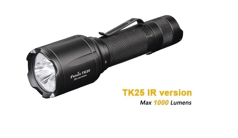 Fenix  TK25IR Weiß +3W Infrarot LED Taschenlampe  neustes Modell