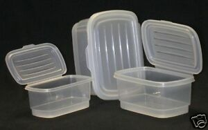 Image Is Loading Food Storage Container Hinged Lids Set Of 3