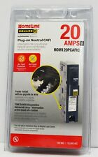 Square D Hom120pcafic Homeline Plug On Neutral 20 Amp Single Pole Cafci Circuit