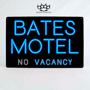 Details about Bates Motel Metal Sign Norman Psycho Movie Horror Classic  Vintage Retro Film