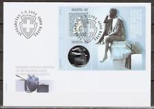 Schweiz FDC Block 36 150 Jahre Strubel-Briefmarken Sitzende Helvetia Format: C6